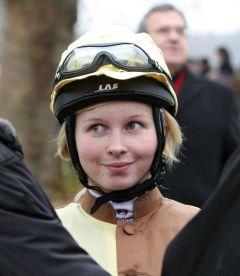Jana Oppermann 2012 in Halle. www.galoppfoto.de - Frank Sorge