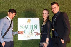 Bauyrzhan Murzabayev (links) und Sibylle Vogt beim Saudi Cup 2020. www.galoppfoto.de - Peter Heinzmann