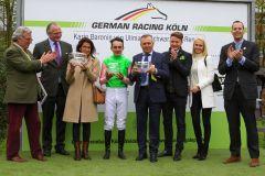 Siegerehrung im Schwarzgold-Rennen (Foto: Sandra Scherning)