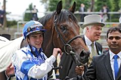 Al Kazeem mit James Doyle nach dem Sieg in den Prince of Wales's Stakes. Foto: www.galoppfoto.de - Frank Sorge