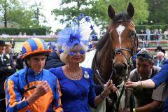 Ryan Moore und Gleneagles nach dem Sieg in den St James's Palace Stakes. www.galoppfoto.de - Frank Sorge