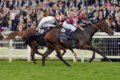 Charm Spirit gewinnt die QE Stakes vor Night of Thunder. Foto: www.galoppfoto.de - Jim Clark/Sorge