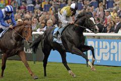 Überraschungssieg zum Feierabend: Berkshire entscheidet die Darley Stakes für sich. Foto: www.galoppfoto.de - Jim Clark/Sorge