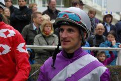 Andrasch Starke im Dress des Stalles Nizza am 28.03.2010 in Düsseldorf. www.Dequia.de
