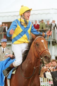 Andreas Suborics gewinnt den 126. Grosser Preis von Baden. www.galoppfoto.de - Frank Sorge