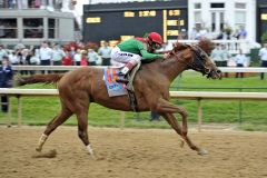 Animal Kingdom (John Velazquez) gewinnt das 137. Kentucky Derby. Foto www.galoppfoto.de - Peo Ploff