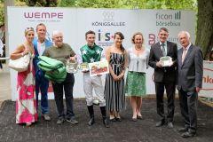 Atalena gewinnt unter Adrie de Vries. Foto: Dr. Jens Fuchs