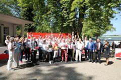 Großer Jubel bei der vielköpfigen Galoppgemeinschaft Bad Harzburg. Foto: Dr. Jens Fuchs