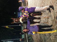 Trainerin Petra Gehm, Beetle Star und Carlos Henrique. Foto: Dequia
