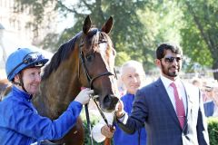 Pat Cosgrave, Best Solution und Saeed Bin Suroor. www.galoppfoto.de