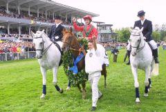 Boreal und John Reid Sieger im 132. Deutschen Derby. www.galoppfoto.de