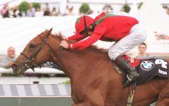 Boreal und John Reid - Sieger im 132. Deutschen Derby. www.galoppfoto.de