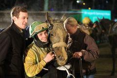 Cioccomia gewinnt mit Miguel Lopez am 26.01.2015 in Neuss. Foto: Dr. Jens Fuchs