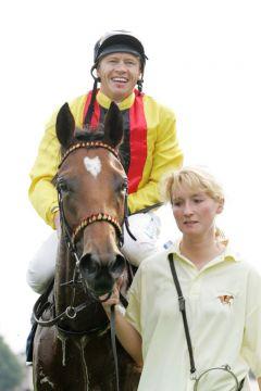 Daring Love mit Andreas Boschert gewinnt die 131. Maurice Lacroix-Trophy. www.galoppfoto.de - Frank Sorge
