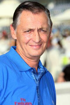 Der australische Trainer Peter Snowden 2012 in Dubai. www.galoppfoto.de - Frank Sorge