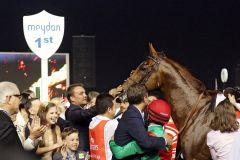 Der Platz Nummer 1 in Meydan für Animal Kingdom. www.galoppfoto.de - Frank Sorge