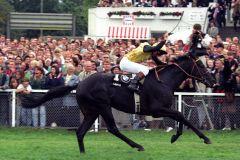 Derbysieger 1996 - Gestüt Fährfhofs Lavicro mit Torsten Mundry. www.klatuso.com - Klaus-Jörg Tuchel