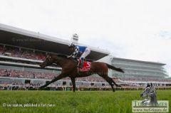 Ein historischer Sieg: Protectionist gewinnt als erstes deutsches Pferd mit Ryan Moore den Melbourne-Cup. Foto Getty Images - Robert Cianflone