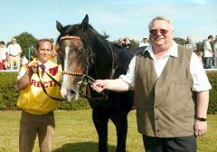 Goldene Peitsche Sieger Electric Beat ist das erfolgreichste Pferd des Rennstalles Directa von Hans-Jürgen Buldt (rechts). Foto: privat