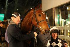 Zweiter Sieg in Folge: Gamgoom siegt mit Stefanie Hofer am 08.02.2015 in Neuss. Foto: Dr. Jens Fuchs