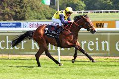 Ein besseres Pferd: Ghislaine gewinnt unter Marco Casamento. www.galoppfoto.de - Marlin Sorge