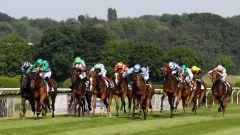 Die Endphase des Rennens: Hawksmoor (2. v. links) unter James Doyle ist bereits vorne (Foto: Dr. Jens Fuchs)