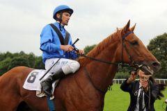 Dubday mit Adrie de Vries in Hannover. www.galoppfoto.de - Sabine Brose