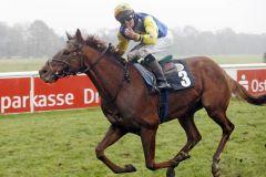 Für Miki Cadeddu runden sich erfolgreiche Wochen mit dem Sieg auf Iraklion im letzten Listenrennen des Jahres. www.galoppfoto.de