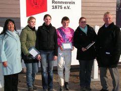 Susanna Santesson, Larissa Bieß, Nina Keßler, Dennis Schiergen, Anja König, Reinhard Ording. Foto: Gabriele Suhr