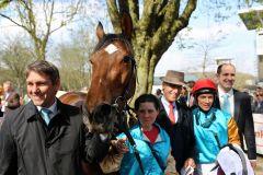 Kasalla mit Markus Klug und Adrie de Vries nach dem Sieg (Foto: Dr. Jens Fuchs)