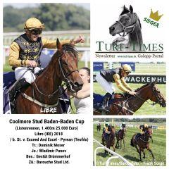 Die Sieger-Collage für Libre, den Trainer Dominik Moser, den Jockey Wladimir Panov und das Gestüt Brümmerhof. ©Turf-Times/Galoppfoto