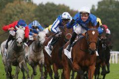 Wieder ein Godolphin/Pantall-Sieg: Nashirah gewinnt unter Julien Guillochon. www.galoppfoto.de
