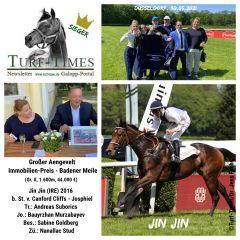 Eine Seriensiegerin: Jin Jin gewinnt den Großen Aengevelt Immobilien-Preis - Badener Meile und ihr 7. Rennen in Folge. ©Turf-Times/Dr. Jens Fuchs