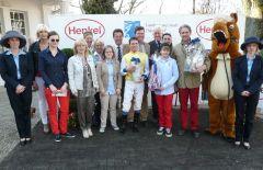 Siegerehrung mit Trainer F. Leve und Jockey Jozef Bojko. Foto Suhr