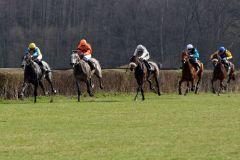 Nuntius (Jozef Bojko) untermauert seine Derbyambitionen, gewinnt auch sein zweites Rennen sicher vor Destor, Blues Wave und Stürmer. www.galoppfoto.de - Sabine Brose
