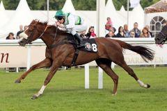 Pferdlein streck Dich ... Echo Bravo mit Michael Cadeddu gewinnt. www.galoppfoto.de - Sabine Brose