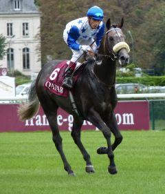 Reliable Man als Sieger im  Qatar Prix Niel unter Gerald Mosse. Foto: Heidrun Küster