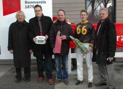 Siegerehrung mit Sascha Smrczek, Martin Seidl, R. Ording (Foto: Suhr)