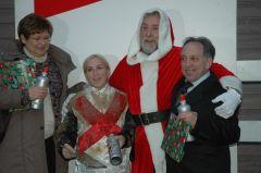 Siegerehrung mit Frau Leiner, Steffi Hofer, P. Ritter, Trainer Mario Hofer. (Foto Suhr)