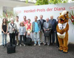 Siegerehrung mit Familie Leyser, Stephen Hellyn, Jan Pubben und Präsident Peter M. Endres. Foto G. Suhr