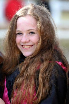 Rennreiterin Amina Mathony im Portrait beim Dortmunder Sandbahn-Finale 2019-2020. www.galoppfoto.de - Stephanie Gruttmann