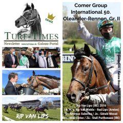 Erster Gruppensieg für Rip Van Lips im 50. Comer Group International Oleander-Rennen mit  Jockey Gérald Mossé. www.galoppfoto.de - Frank Sorge