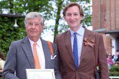 Russian Tango-Besitzer Albert Darboven (links), Vize-Präsident des Hamburger Renn-Clubs, und der Hoppegartener  Rennbahn-Eigner Gerhard Schöningh. www.hoppegarten.com