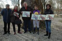 Siegerehrung mit Susanne L. Born, Lucien v.d. Meulen, Anna v.d. Troost. Foto Gabriele Suhr