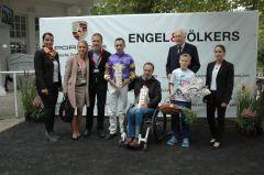 Siegerehrung mit Daniele Porcu, Peter Gehm, RV Präsident Peter M. Endres, Patrick Gehm. Foto Gabriele Suhr