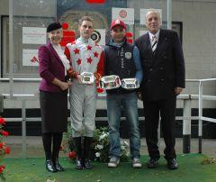 Siegerehrung mit Martin Seidl, Sebastian Kludka, Hans-Martin Schlebusch. Foto Gabriele Suhr