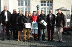 Siegerehrung mit Gebhard Apelt, Alexander Pietsch, Jan Schreurs, Wilhelm Giedt. Foto: Gabriele Suhr