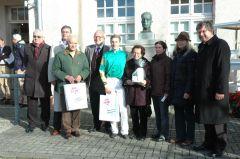 Siegerehrung mit Hans Blume, Jan Schreurs, Martin Seidl. Foto Gabriele Suhr