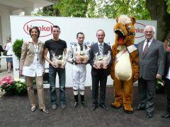 Siegerehrung mit Ali Asli, Daniele Porcu und Sascha Smrczek (Foto: Gabriele Suhr)