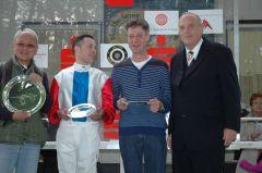 siegerehrung mit Jockey Daniele Porcu, Trainer P.G. van Kempen, RV Präsident Hans Martin Schlebusch. Foto Gabriele Suhr